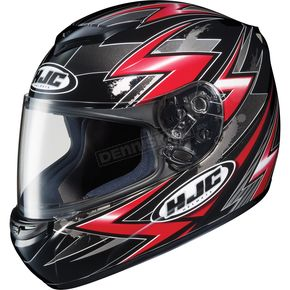 HJC CS-R2 Black/Red/Silver Thunder Helmet - 210-916