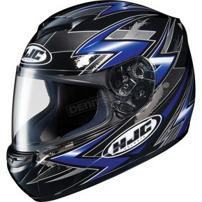 HJC CS-R2 Black/Blue/Silver Thunder Helmet - 210-926