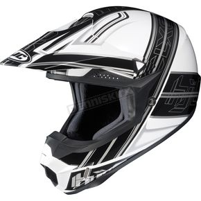 HJC White/Black/Silver Slash CL-X6 Helmet - 732-954