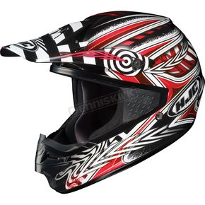 HJC Black/Red/White Charge CS-MX Helmet - 310-916