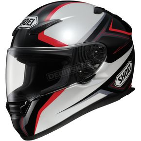 Shoei Helmets RF-1100 Chroma Black/Silver/Red Helmet - 0113-0301-05