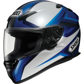 Shoei Helmets RF-1100 Chroma Black/Silver/Blue Helmet - 0113-0302-06