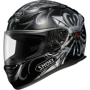 Shoei Helmets RF-1100 Pious Black/Silver/Red Helmet - 0113-0405-06