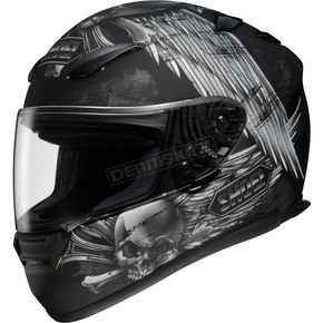 Shoei Helmets RF-1100 Merciless Black/Silver Helmet - 0113-0505-06