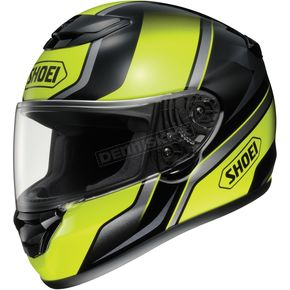 Shoei Helmets Qwest Overt Black/Hi Viz Yellow Helmet - 0115-0703-06