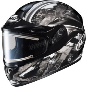 HJC Black/Dark Silver/Silver CL-16SN Shock Helmet w/Electric Shield - 015-956