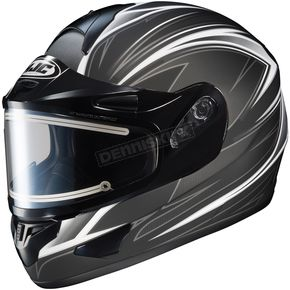 HJC Black/Silver/White CL-16SN Razz Helmet w/Electric Shield - 017-856