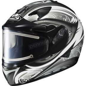 HJC White/Black/Silver IS-16 Lash Helmet w/Electric Shield - 175-954