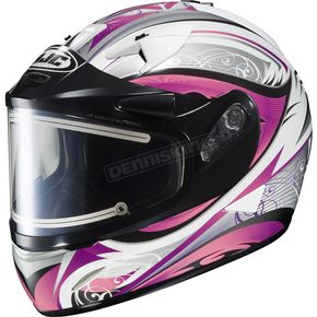 HJC White/Black/Pink IS-16 Lash Helmet w/Electric Shield - 175-986