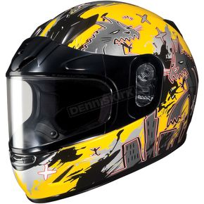 HJC Youth Yellow/Dark Silver CL-YSN Katzilla Helmet - 227-934
