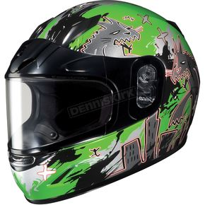 HJC Youth Green/Dark Silver CL-YSN Katzilla Helmet - 227-944