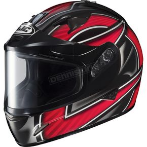 HJC Black/Silver/Red IS-16 Ramper Helmet  - 573-916