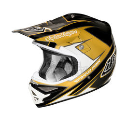 Troy Lee Designs Black/Gold Stinger Air Helmet - 0142