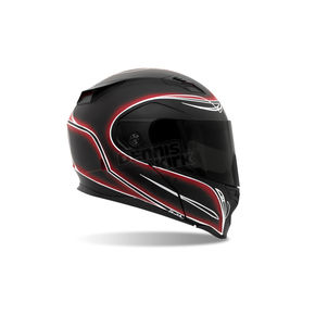 Bell Helmets Black/Red/White Revolver EVO Skratch Pin Stripe Helmet - Convertible To Snow - REVOLVER