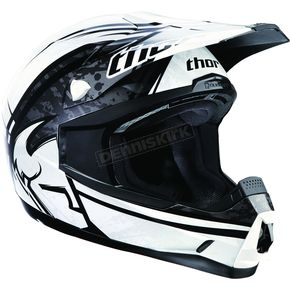 Thor Youth Black/White Splatter Quadrant Helmet - 01110823