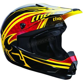 Thor Youth Yellow/Red Splatter Quadrant Helmet - 01110834