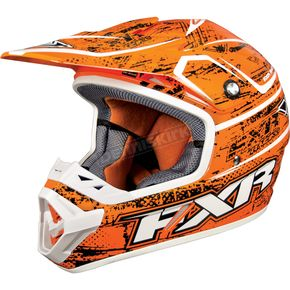 FXR Racing Orange Warp Octane Helmet - 13400