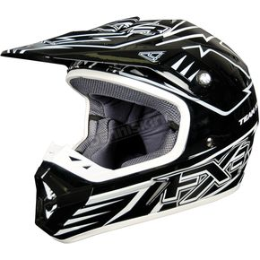 FXR Racing Black/White Octane Helmet - 1340