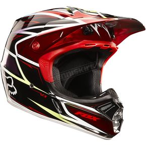 Fox Red/Black V3 Race Helmet - 02813-055