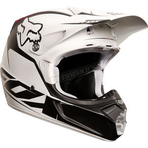 Fox Matte White/Black V3 Fathom Helmet - 02814-067