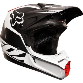Fox Matte Black/White V3 Fathom Helmet - 02814-255