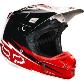 Fox Red/White V2 Giant Helmet - 02820-003-S
