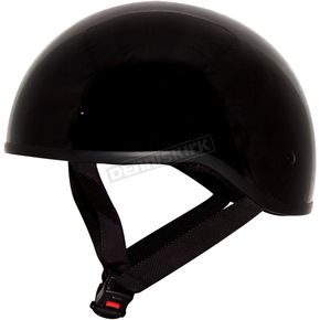 Zox Gloss Black Nano Old School Half Helmet - 88-00204