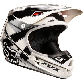 Fox Youth Black/White V1 Costa Helmet - 03913-001