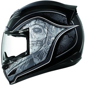 Icon Black Medicine Man Airmada Helmet - 01016505