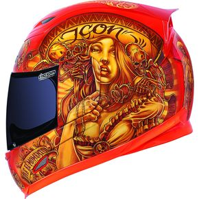 Icon Orange Vaquero Airframe Helmet - 0101-6631