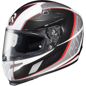 HJC White/Black/Red Cage MC 1 RPHA-10 Helmet - 1574-916