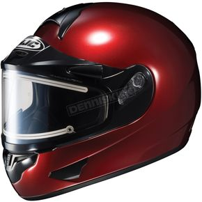 HJC Metallic Wine CL-16SN Helmet w/Electric Shield - 005-266
