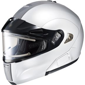 HJC White IS-MAX BTSN Helmet w/Electric Shield - 059-146