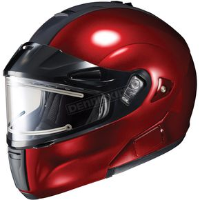 HJC Metallic Wine IS-MAX BTSN Helmet w/Electric Shield - 059-267