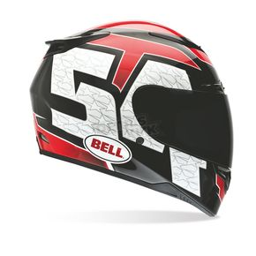 Bell Red/Black/White RS-1 Corsa Helmet - Convertible To Snow - 7000229