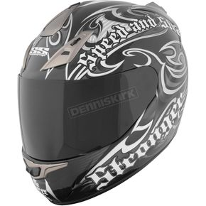 Speed and Strength Black/Dark Silver SS1000 The Power & The Glory Helmet - 87-5501