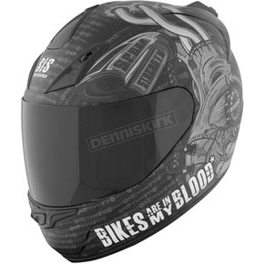 Speed and Strength Matte Black SS1000 Bikes Are In My Blood Helmet - 87-5617