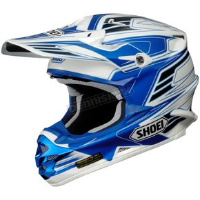 Shoei Helmets White/Blue/Black VFX-W Werx TC-2 Helmet - 0145-7902-06