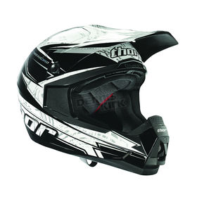 Thor Black Quadrant Stripe Helmet - 0110-3398