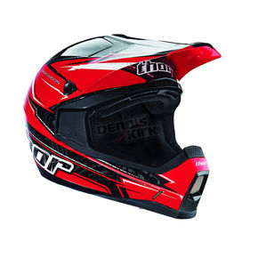 Thor Youth Red Quadrant Stripe Helmet - 0111-0878