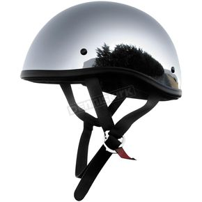 Skid Lid Chrome Original Half Helmet - 646624