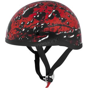 Skid Lid Red Oil Spill Original Half Helmet - OIL-SPILL RED