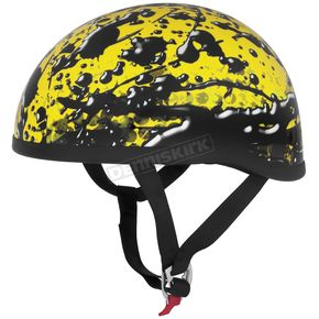 Skid Lid Yellow Oil Spill Original Half Helmet - OIL-SPILL
