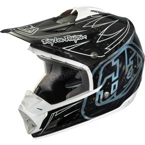 Troy Lee Designs Carbon/White Pinstripe SE3 Helmet - 0104-1110