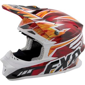 FXR Racing Red/Orange Fire Blade Super Lite Race Helmet - 14412