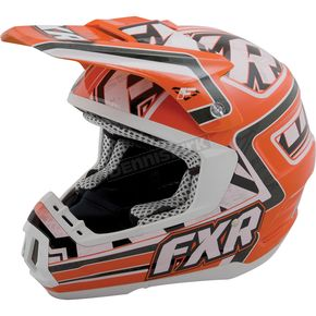 FXR Racing Orange/White Torque Helmet - 14426