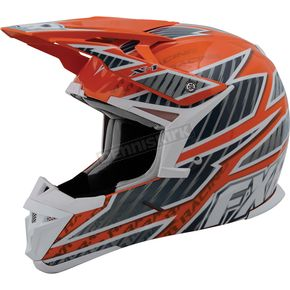 FXR Racing Orange/Charcoal X-1 Race Helmet - 14421