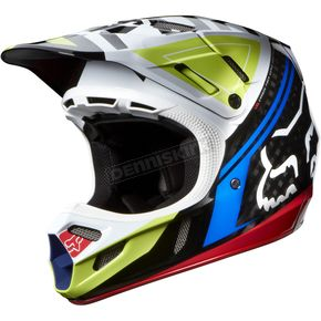 Fox Black/Red V4 Intake Helmet - 07114-017-L