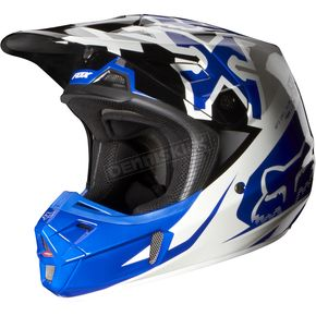 Fox Blue V2 Anthem Helmet - 07126-002-L