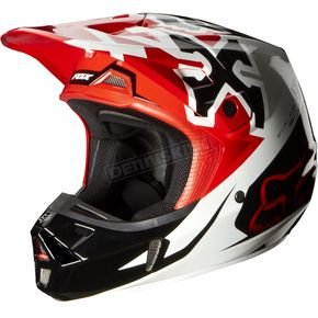 Fox Red V2 Anthem Helmet - 07126-003-L